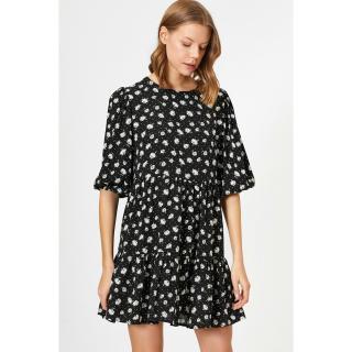 Koton Women Black Patterned Dress dámské 36