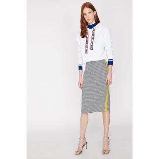 Koton Women Black Stripe Detailed Skirt dámské 34