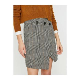 Koton Women Brown Button Detailed Skirt dámské 34