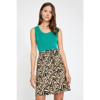 Koton Women Brown Normal Waist Tie Waist Midi Skirt dámské Coffee 34
