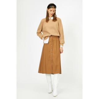 Koton Women Brown Skirt dámské Coffee 34
