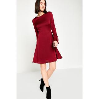 Koton Women Claret Red Dress dámské BORDO 34
