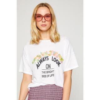 Koton Women Ecru T-shirt dámské White 001 S