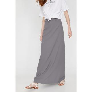 Koton Women Gray Maxi Normal Waist Skirt dámské 34