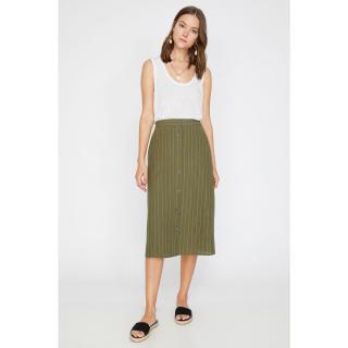 Koton Women Green Striped Skirt dámské 34
