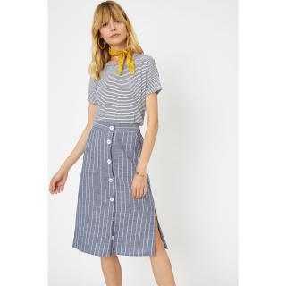 Koton Women Navy Blue Skirt dámské 34