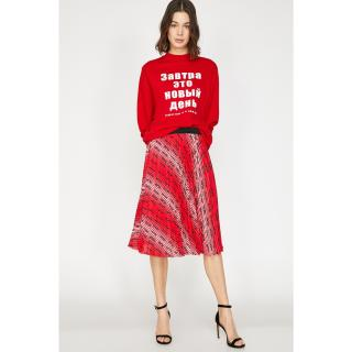Koton Women Red Patterned Skirt dámské 34