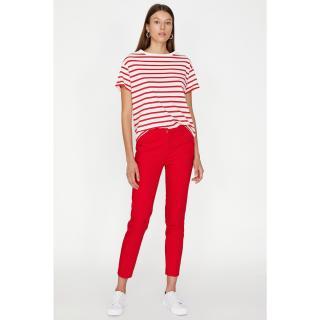 Koton Women Red Pocket Detailed Trousers dámské 36