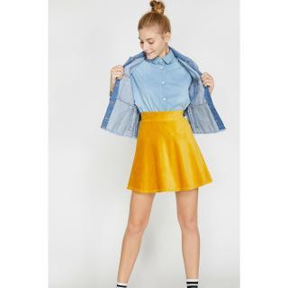 Koton Women Yellow Ruffle Detailed Skirt dámské L