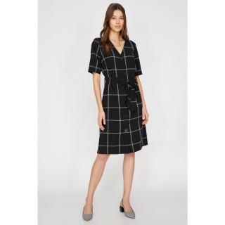 Koton Womens Black Button Detail dress dámské Siyah 34