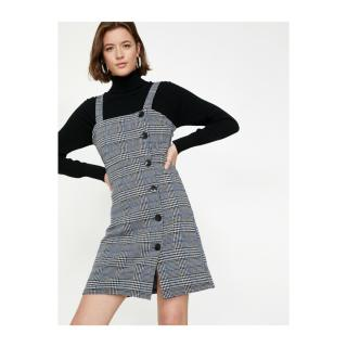 Koton Womens Black Button Detailed Dress dámské Other 40