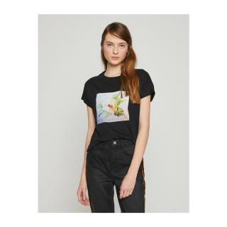 Koton Womens Black T-shirt dámské Other S