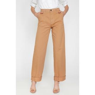 Koton Womens Brown Pocket Detailed Trousers dámské Other 44