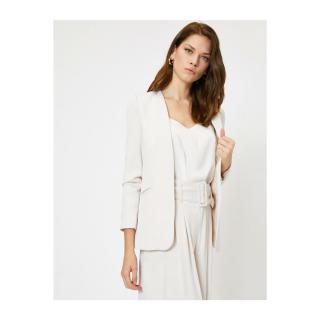 Koton Womens Ecru Arzu Sabanci for Cotton Jacket dámské Other 42