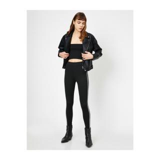 Koton Womens Glitter Detailed Leggings dámské Black 999 XL