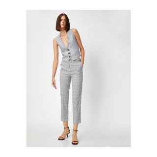 Koton Womens Gray Plaid Pants dámské Other 34