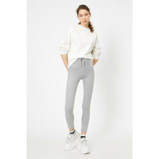 Koton Womens Gray Plain Tights dámské L