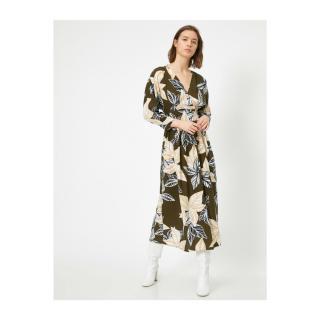 Koton Womens Green Floral Pattern Dress dámské 40
