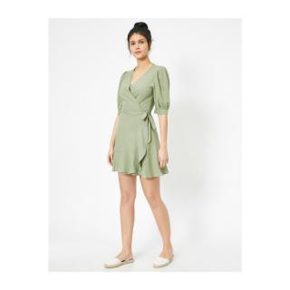 Koton Womens Green Ruffle Detail Dress dámské 38