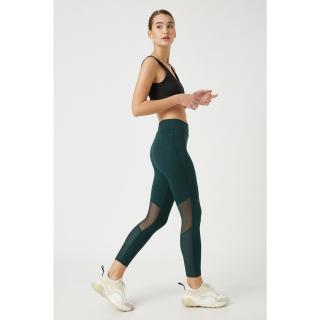 Koton Womens Green Tulle Detailed Leggings dámské M