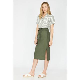Koton Womens Green Waist Baggy Skirt dámské 36