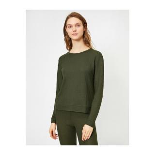 Koton Womens Khaki Pajamas Top dámské Green L