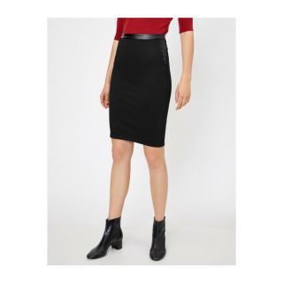 Koton Womens Leather Detail Skirt dámské Black 999 XL