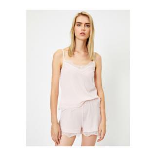 Koton Womens Light Pink Pajama Top dámské Other M