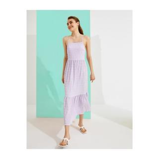 Koton Womens Lilac Plaid Dress dámské Other 38