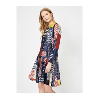 Koton Womens Navy Blue Patterned Dress dámské 44