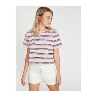 Koton Womens Pink T-Shirt dámské Other XS