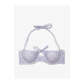 Koton Womens Purple Patterned Bikini Top dámské 40