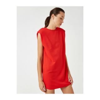 Koton Womens Red Waistcoat Short Dress dámské Other XL