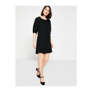 Koton Womens Ruffle Detail Dress dámské Black 999 34