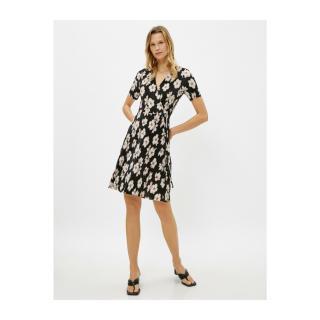Koton Womens Short Sleeve Floral Dress dámské White L