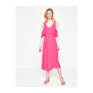 Koton Womens Shoulder Detail Dress dámské Pink 36