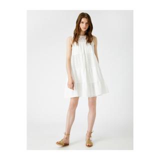Koton Womens White Halter Neck Dress dámské Other 36