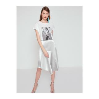Koton Womens White Printed T-shirt dámské White 001 L