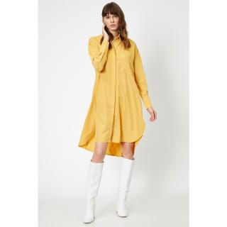 Koton Womens Yellow Dress dámské Sarı 34