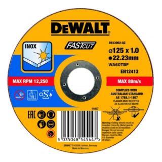Kotouč řezný na nerez 125x22,2x1,0 Fastcut Dewalt DT43902