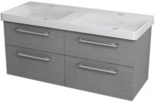 Koupelnová skříňka pod umyvadlo Sapho Theia 116x44,2 cm dub stříbrný TH124 dřevodekor dub stříbrný
