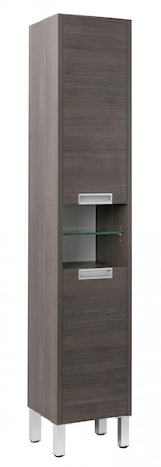 Koupelnová skříňka vysoká Naturel Modena 36,5x33,5 cm dub šedý MODENAV35LPNEW dřevodekor dub šedý