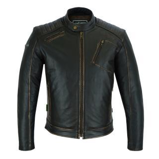 Kožená Moto Bunda W-Tec Embracer  Vintage Dark Brown  S S
