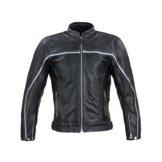 Kožená Moto Bunda W-Tec Mathal  Černá  S S