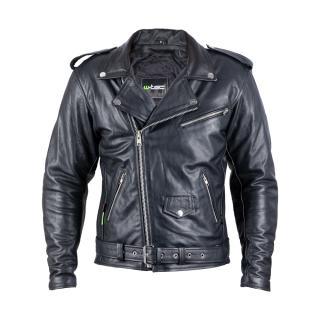 Kožená Moto Bunda W-Tec Perfectis  M  Černá M