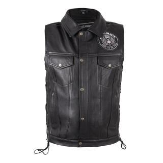 Kožená Moto Vesta W-Tec Highstake  Black  3Xl 3XL