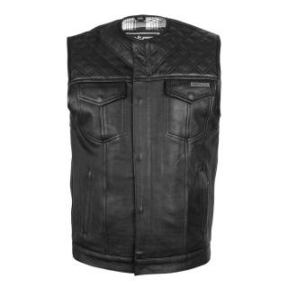 Kožená Moto Vesta W-Tec Losango  Black  L L