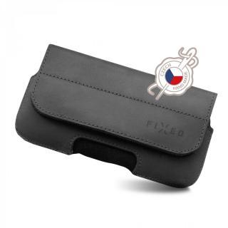 Kožené horizontální pouzdro Fixed Sarif 5XL, černé