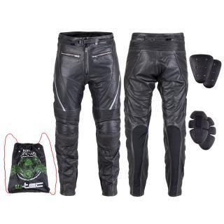 Kožené Moto Kalhoty W-Tec Vilglen  Černá  S S