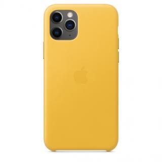 Kožené pouzdro Leather Case pro Apple iPhone 11 Pro Max, meyer lemon